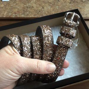 Banana Republic Women's Glitter Belt Size L